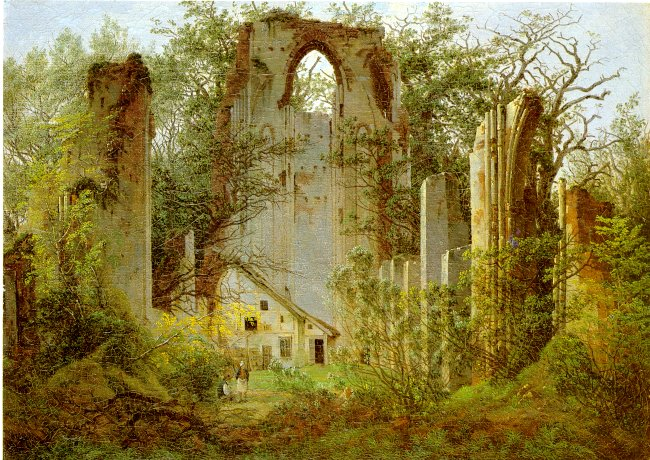Caspar David Friedrich - Klosterruine Eldena (ca. 1825) [wikimedia commons]